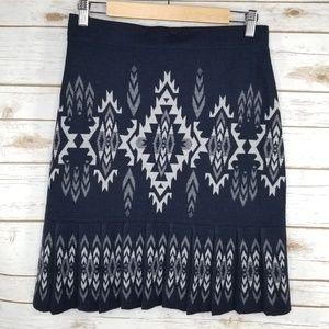 Pendleton aztec pleated hem wool skirt
